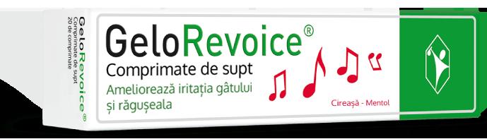 GeloRevoice - Comprimate de supt pentru voce